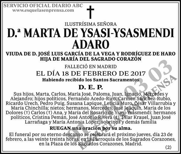 Marta de Ysasi-Ysasmendi Adaro